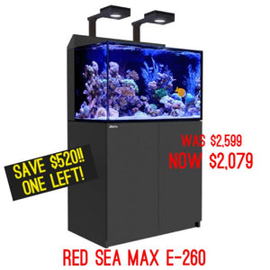 CLEARANCE Red Sea Tanks!! Plus now offering online shopping!