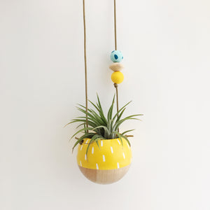 Mini Hanging Planter // Yellow