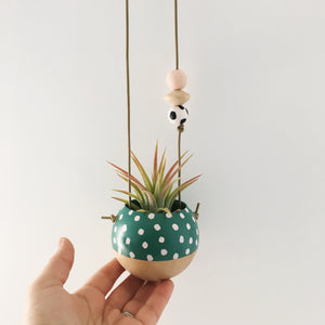 Mini Hand Painted Sphere Planter
