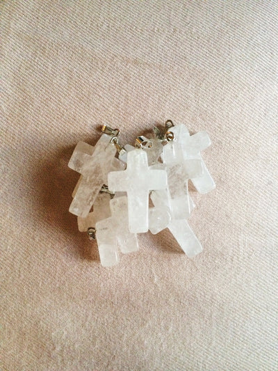 Quartz Cross Necklace - Dream Closet