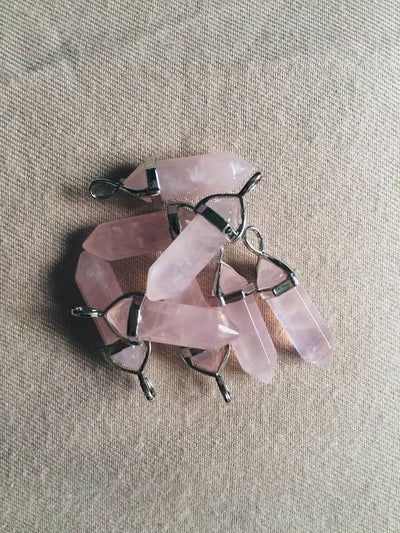 Rose Quartz Crystal Necklace - Dream Closet