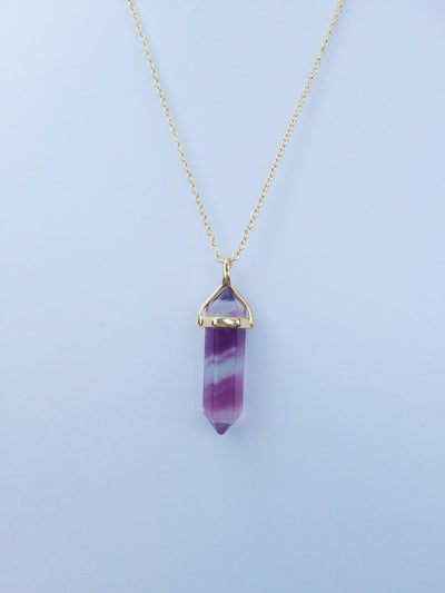 Royal Mist Gold Crystal Necklace - Dream Closet