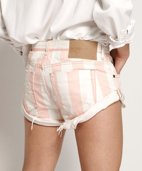 One Teaspoon Candy Stripe Denim Short