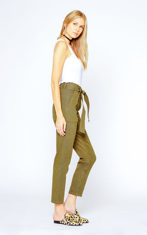 Black Orchid Belted Paper Bag Pant - Bootcamp