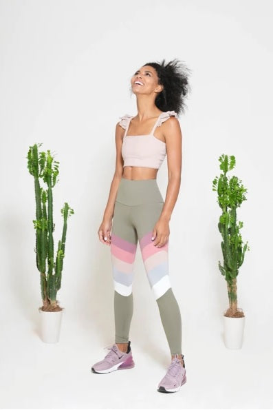 Port de bras rainbow pastel legging