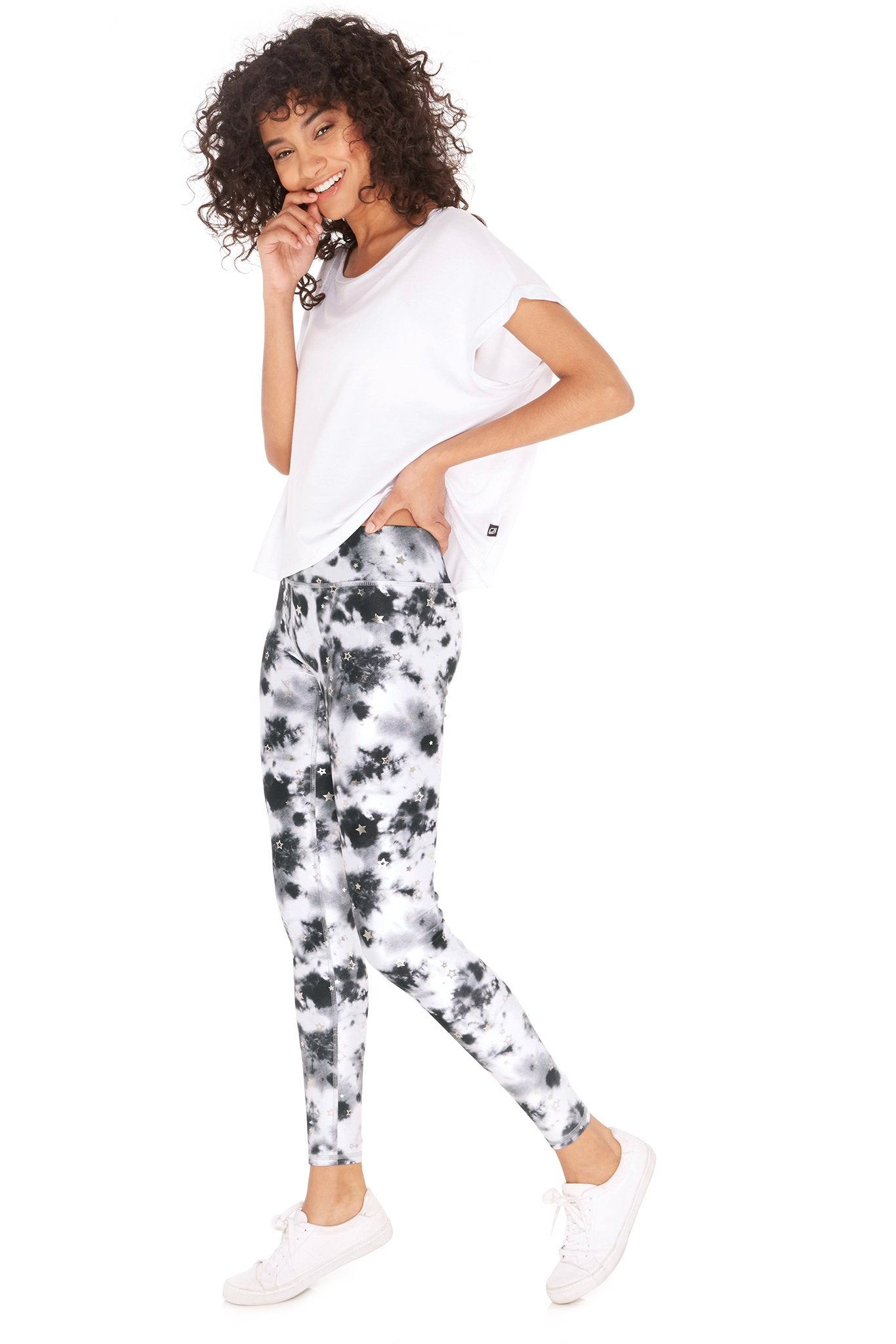 Terez Tie Dye Balayage Tall Band Leggings