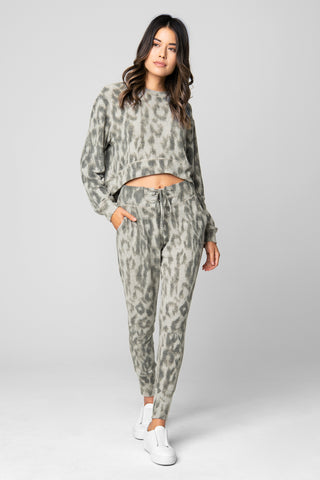 Blank NYC Grey Leopard Pant