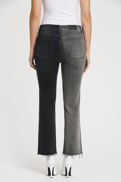 Pistola Crossover Contrast Leg High Rise Jean