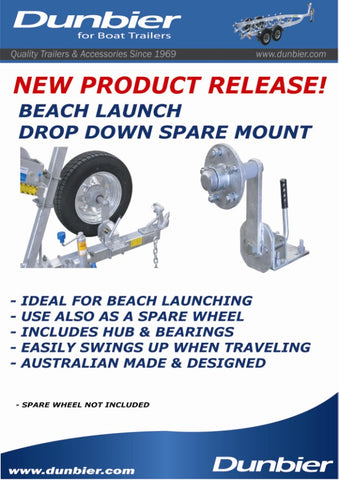 Dunbier Drop Down Spare Wheel Mount Ht