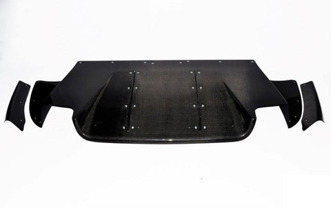 Varis Style Carbon Fiber Rear Diffuser - Mitsubishi Evolution 9