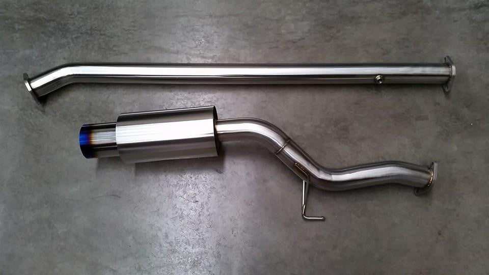 "Lamspeed Racing Stainless steel 3"" catback exhaust Evo 7-9"