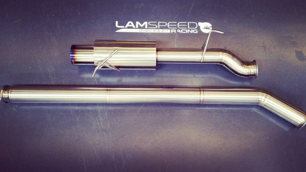 "Lamspeed Racing 3.5"" V Band Catback Exhaust Evo 7-9 Titanium (GR1)"