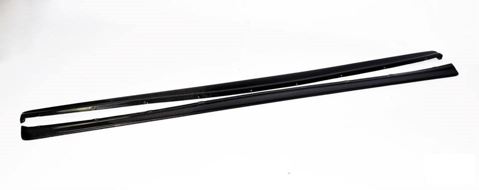 DAMD Style Carbon Fiber Side Skirt Extensions - Mitsubishi Evolution 7-9