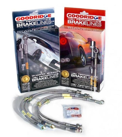 Goodridge Stainless Steel braided brake line kit Evolution 5-9 / 10 (front and rear)