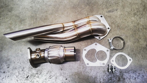 "Lamspeed Racing CZ4A Evo 10, 3"" External dump/front pipe AKA Screamer Pipe (Right Hand Drive)"