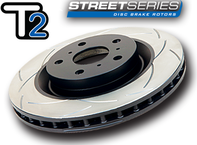 DBA T2 Slotted Rear Rotors Mitsubishi Evolution 5-9