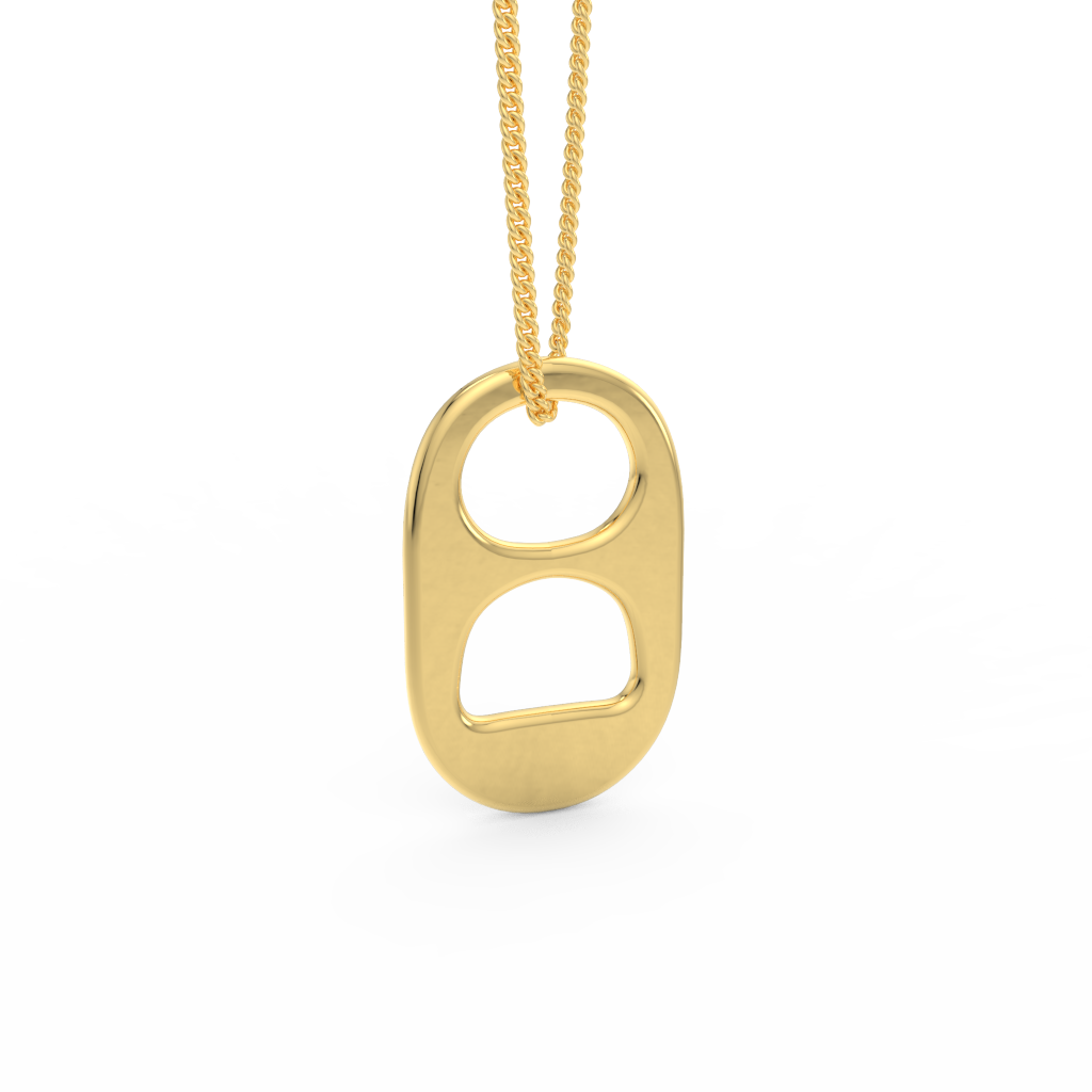14kt Yellow Gold Soda Tab