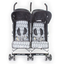 LoveNCare Push N Go Duo Twin Stroller Double Stroller