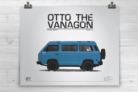 Otto The Vanagon 16X20 Art Print
