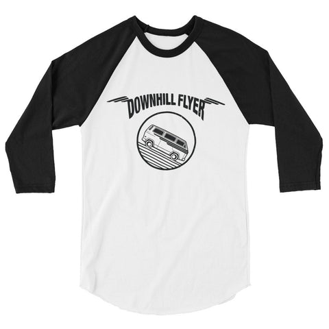 Downhill Flyer 3/4 sleeve baseball shirt