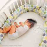 Organic Crib Bumper with Cover and Canopy
