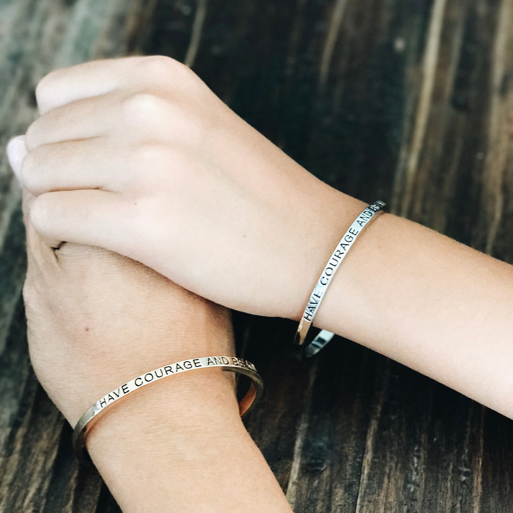 """Have Courage and Be Kind"" Matching Bracelets"