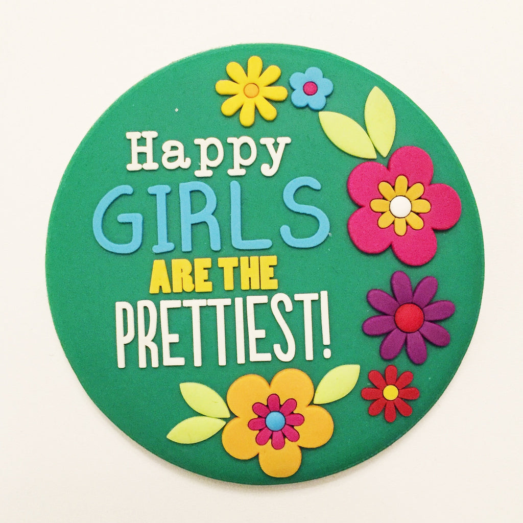 """Happy Girls Are The Prettiest!"" Compact Mirror"
