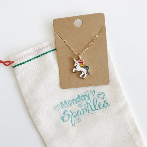Unicorn Necklace (White)