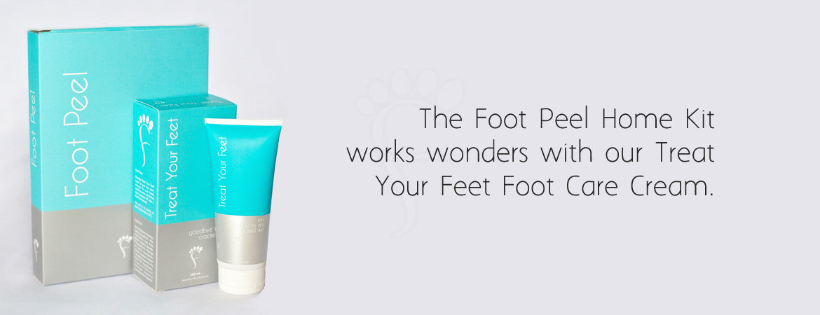 The Foot Peel Pack + Treat Your Feet Cream +free post