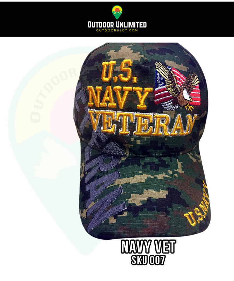 00a7ef52 ... where can i buy u.s. navy veteran eagle camouflage hat outdoor  unlimited 7aa5b e8ef0