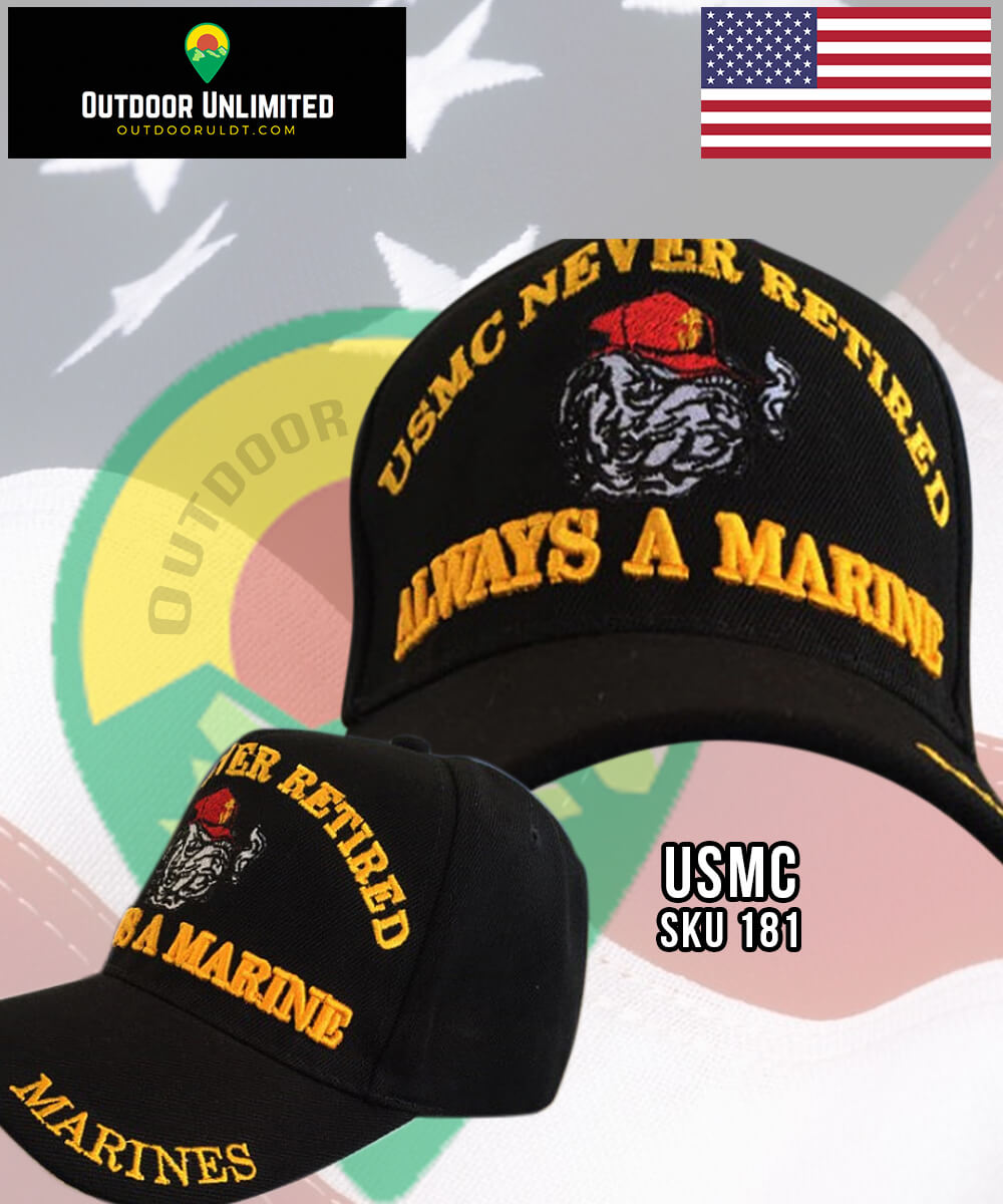 cd305a3c6bb USMC Never Retired Always a Marine Hat – Outdoor Unlimited