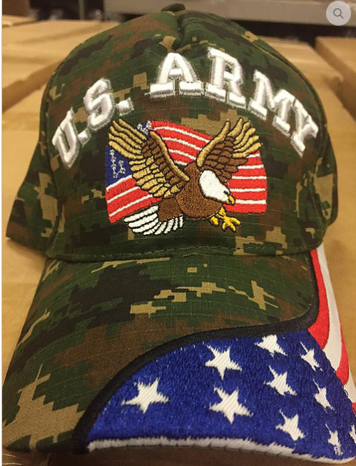 U.S. Army Camouflage Eagle with Flag Hat – Outdoor Unlimited 652a0d0624a