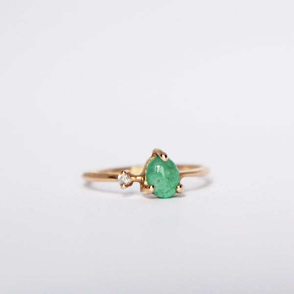 Emerald & Diamond Gold Ring