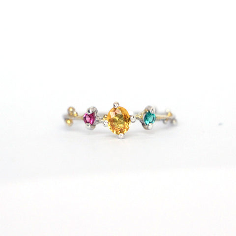 Granulated Yellow Sapphire ring