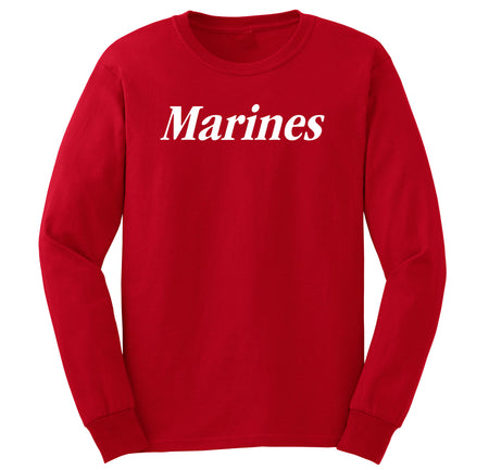 Classic White Marines Long Sleeve T-Shirt