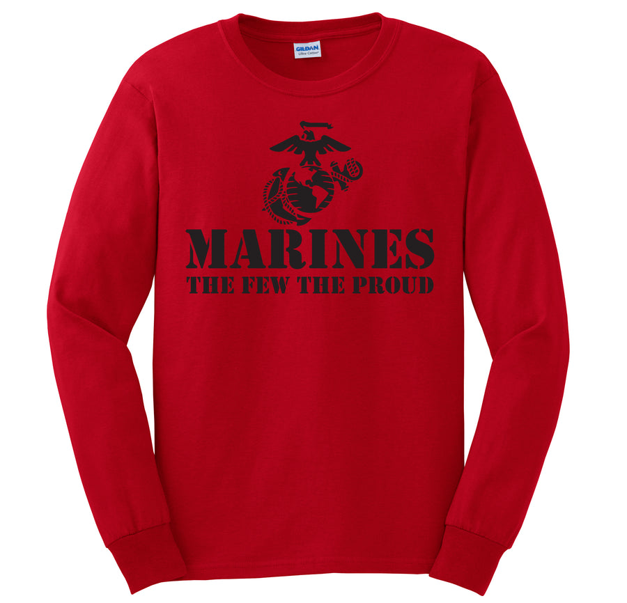 The Few The Proud Long Sleeve T-Shirt (Black)