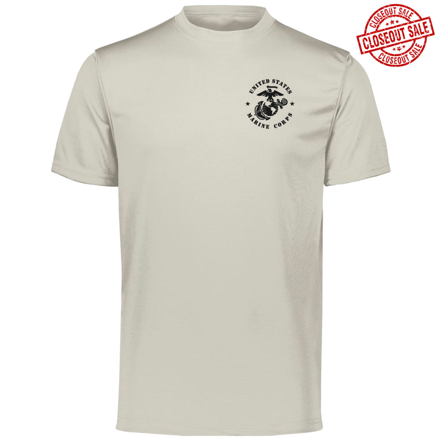 CLOSEOUT USMC Silver Grey Performance T-Shirt