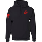 Limited Edition Red EGA & Flag Hoodie