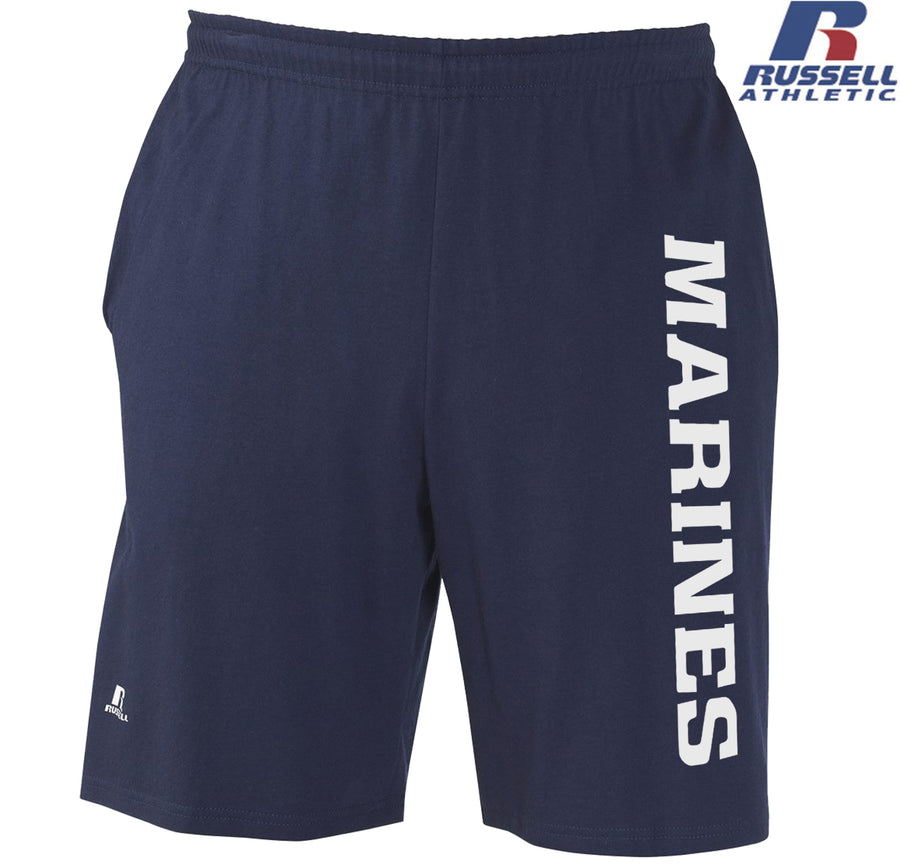 Russell Athletic White Marines Cotton Shorts with Pockets
