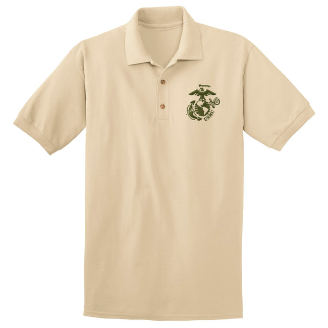 Military Green EGA with USMC Embroidered Polo