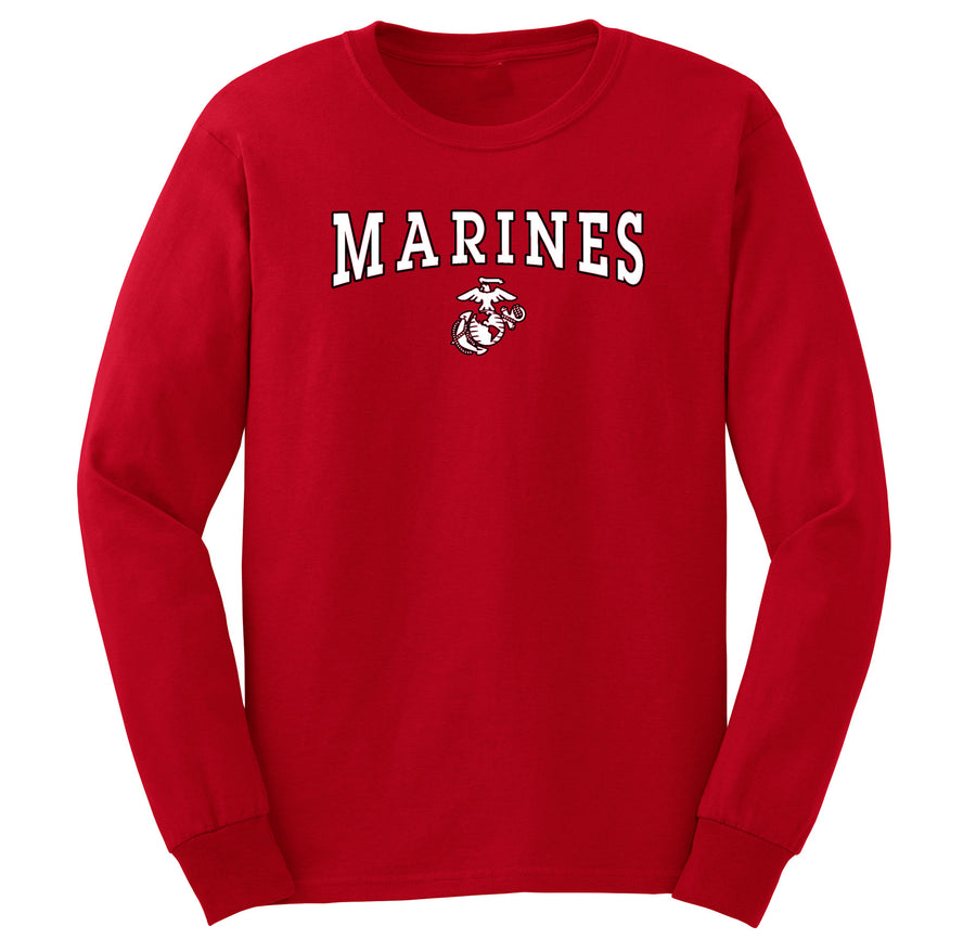Black/White Marines EGA Long Sleeve T-Shirt
