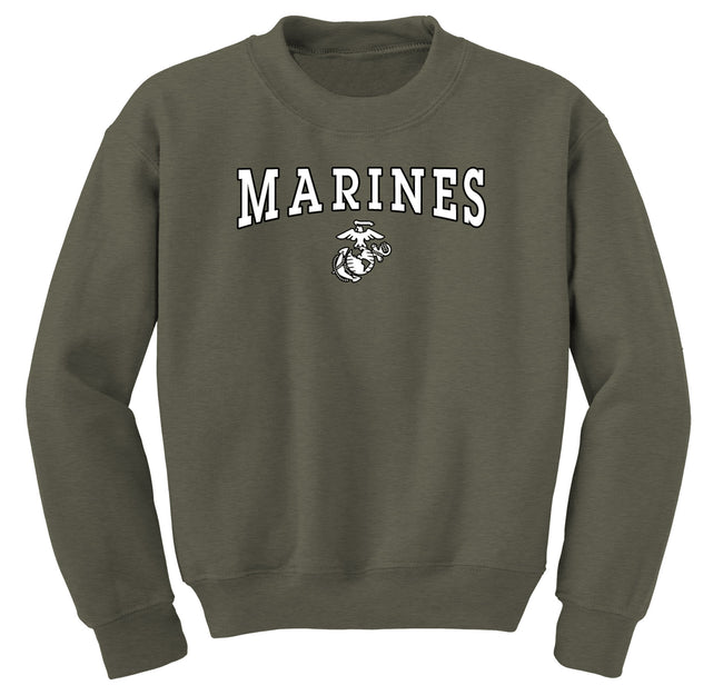 Black/White Marines EGA Sweatshirt