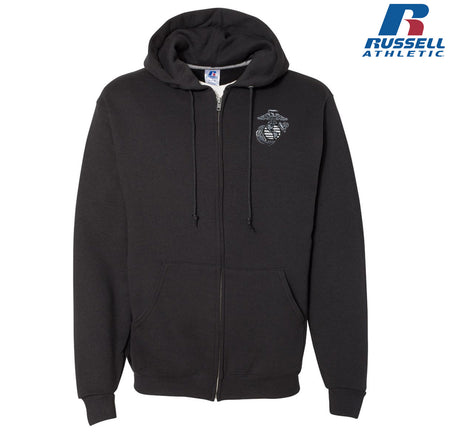 Full Zip Aluminum EGA Embroidered Russell Athletic Dri Power Hoodie