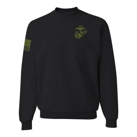 Limited Edition Olive Drab EGA With Flag Sleeve Sweatshirt