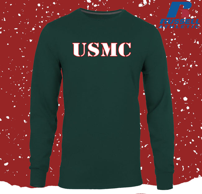 CLOSEOUT Russell Athletic USMC ChristmasEGA Long Sleeve T-Shirt