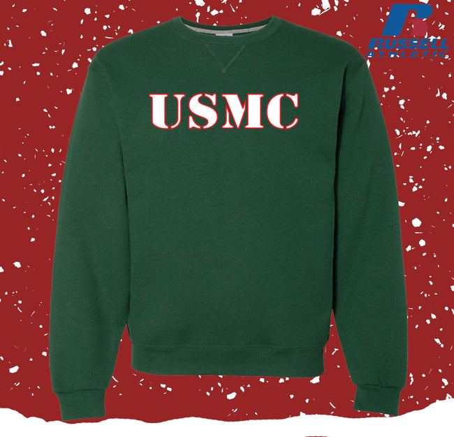 Russell Athletic USMC Christmas Dri Power® Crewneck Sweatshirt