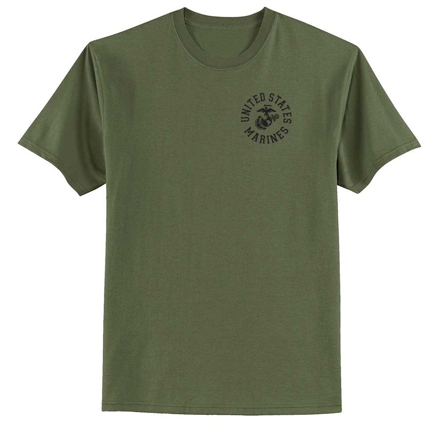 United States Marines Full Circle Chest Seal T-shirt