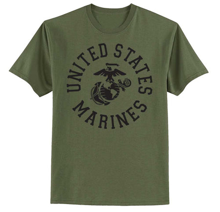 United States Marines Full Circle T-shirt