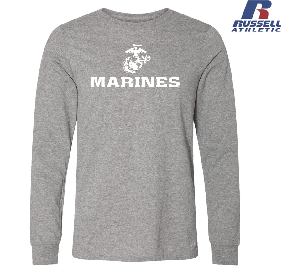 Russell Athletic White Marines EGA Long Sleeve T-Shirt