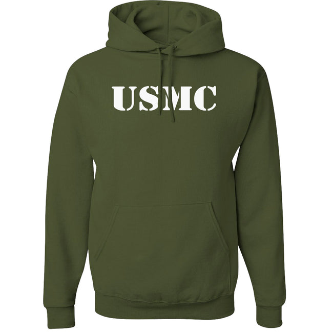 USMC 50/50 NuBlend® Hooded Sweatshirt